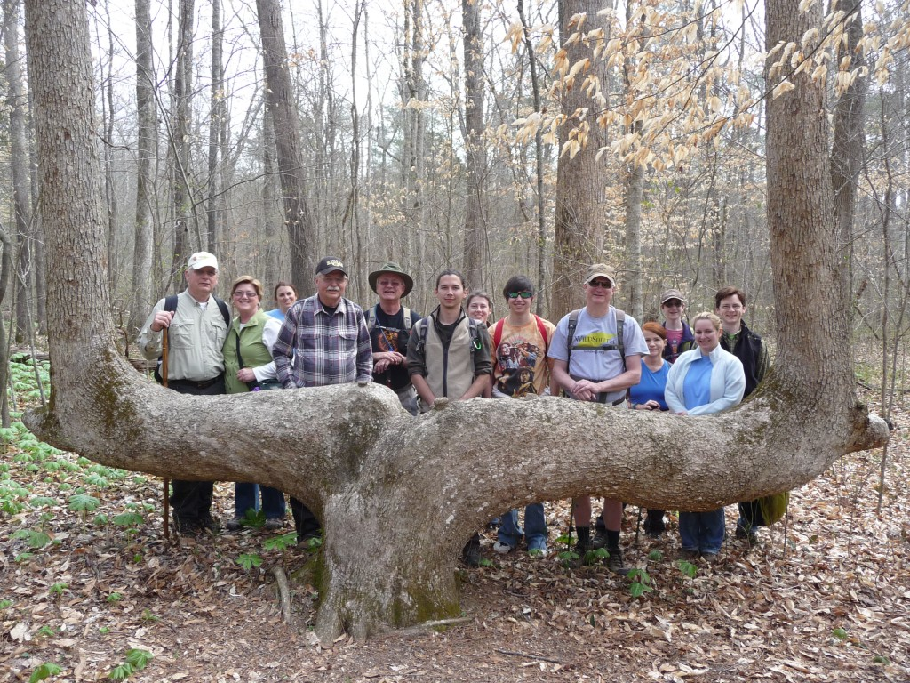 Wild South hikers at Indian Tomb Hollow, March 30