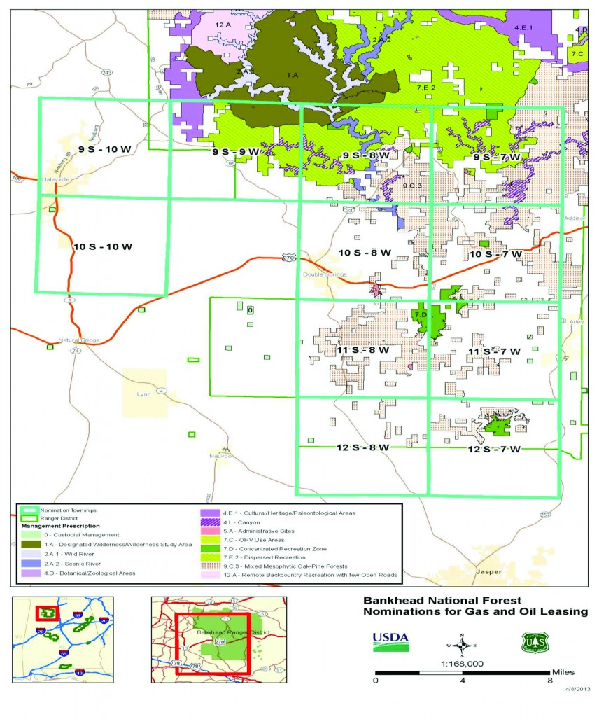 Wild South  Bankhead NF Mineral Leases  Latest News - Map of us national forest