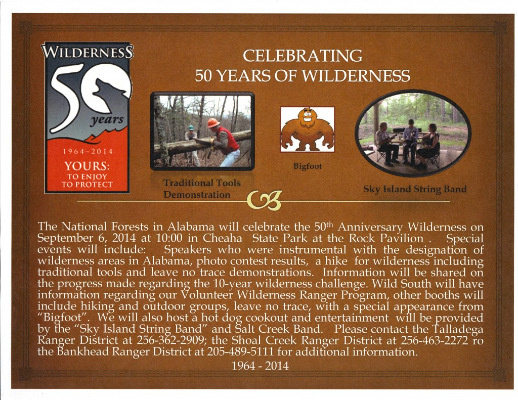 Cheaha Wilderness 50th celebration