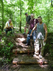 Wild South volunteers on the Sipsey Wilderness Lookout Trail steps they had just completed.