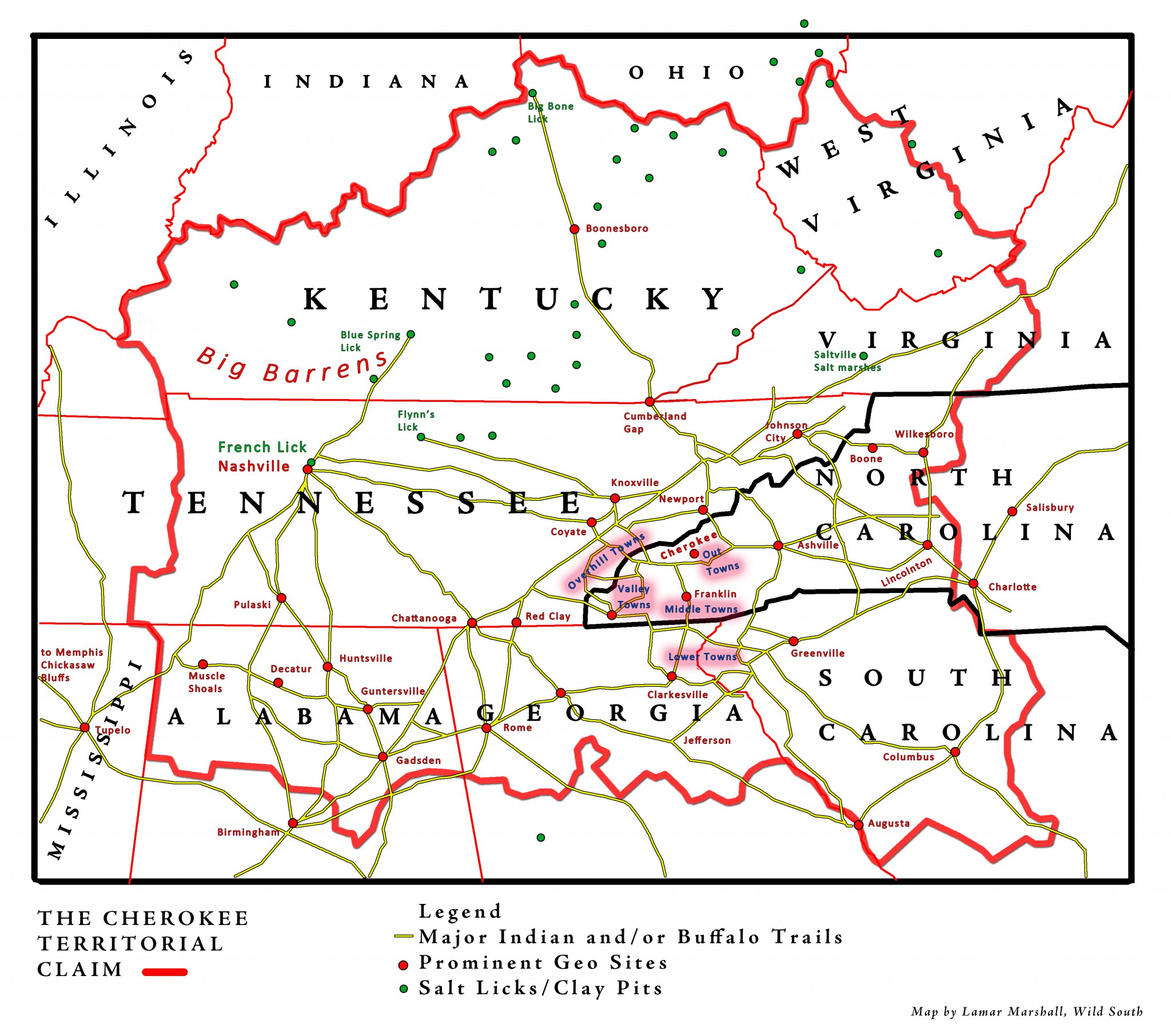 Buffalo Trails Cherokee Territorial Claim